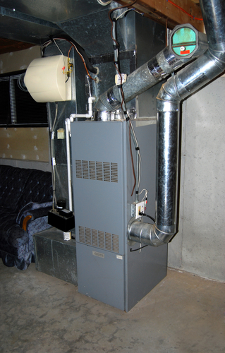 Picture of HVAC unit in basement